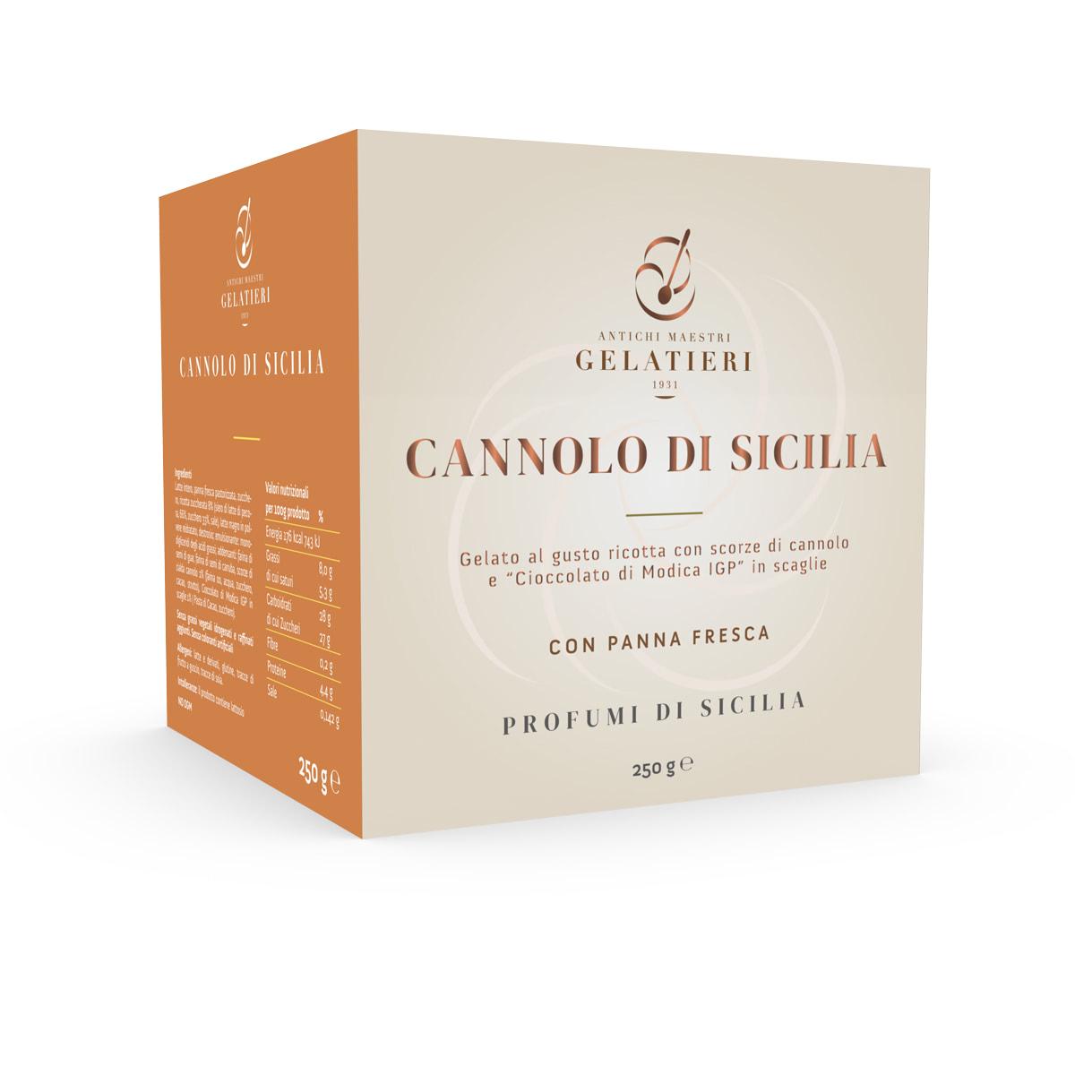 cubotti cannolo di sicilia - antichi maestri gelatieri