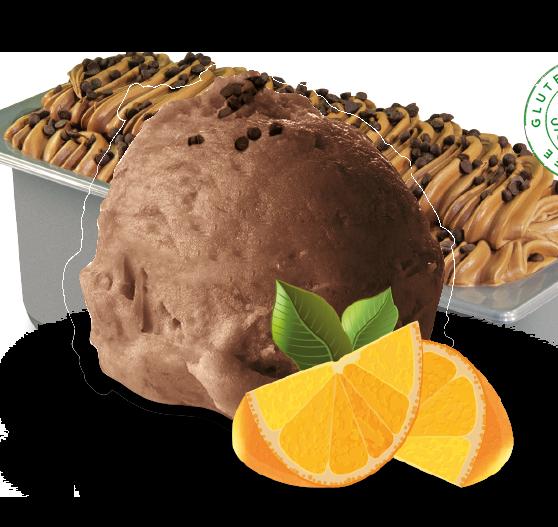 gelato cioccolato e arancia - Gallo gelati - Gelato artigianale siciliano