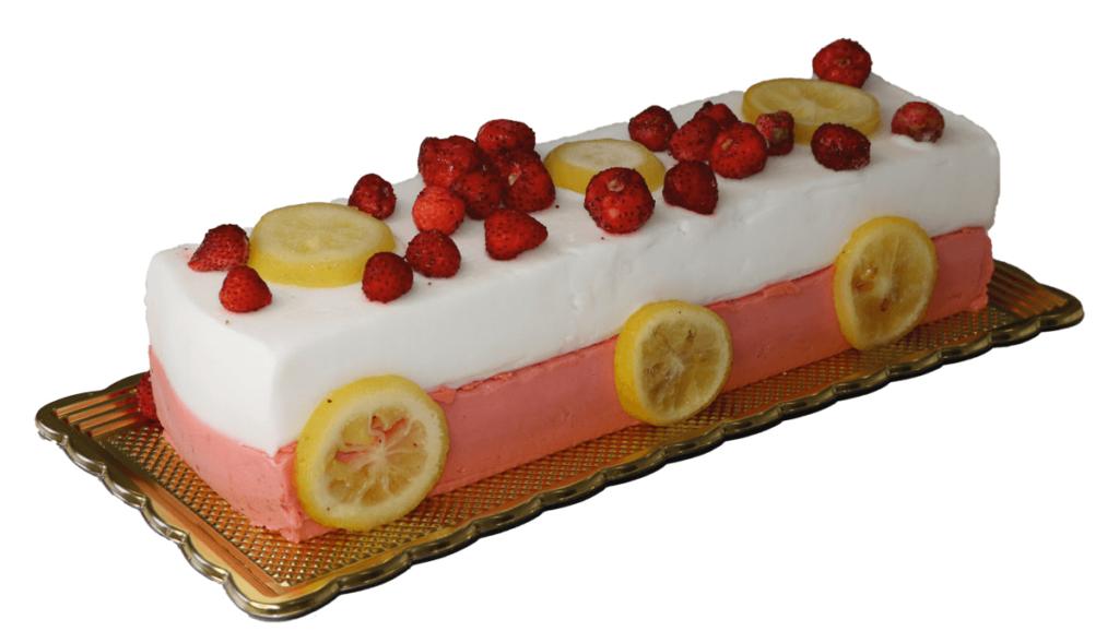Tronchetto gelato fragola e limone - Gallo gelati